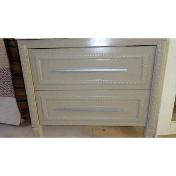 Mueble ba o 81cm ancho color gris maquillaje madera 2 for Muebles de madera color gris