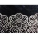 Alfombra lana pelo cortado negro estampado 160 x230 cm